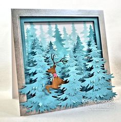 Blue Christmas and Leaping Deer