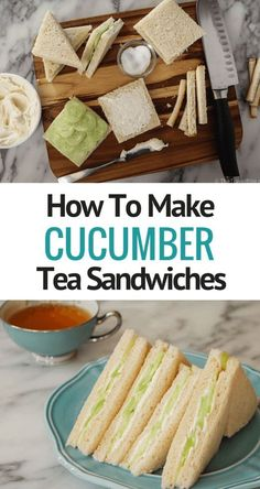How To Make Cucumber Tea Sandwiches - Inspired by my tea experiences in London, as well as my obsession for all things Downton Abbey, I had to make cucumber tea sandwiches at home.  This British tea t (Healthy Baking Salmon)