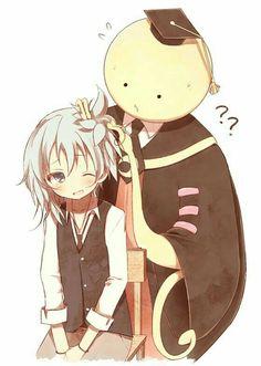 Korosensei, Nagisa, cute, text, hair; Assassination Classroom