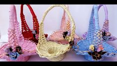 Cosulet din ziare in forma de palarie - Basket of newspapers in the form of a hat Flower Basket, Straw Bag, Wraps, Make It Yourself, Youtube, Video Clip, Hampers, Paper Envelopes, Rap