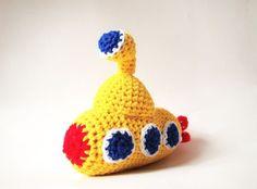 """Crochet Amigurumi Pattern - Yellow Submarine- """"We all live in a yellow submarine, yellow submarine, yellow submarine"""""""