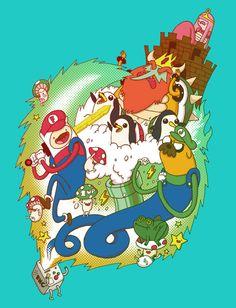 Adventure Time x Super Mario Bros