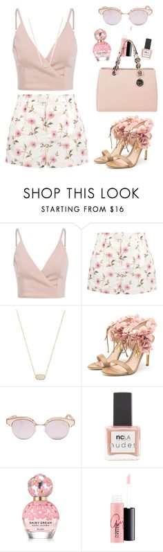 """""""NUDE SELFIE"""" by nicki1738 ❤ liked on Polyvore featuring RED Valentino, Kendra Scott, Rupert Sanderson, Le Specs, ncLA, Marc Jacobs, MAC Cosmetics and MICHAEL Michael Kors"""