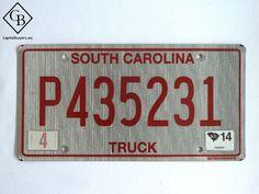 Placa - Matrícula metálica original de USA - South Carolina - Truck