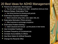 10 Guiding Principles for Managing a Child with ADHD. Video presentation: https://www.youtube.com/watch?v=SCAGc-rkIfo