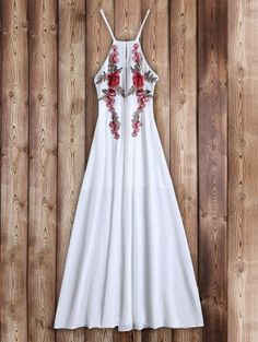 Floral Patches Maxi Beach Dress, Occasions: Beach and Summer,Night Out Material: Polyester Dresses Length: Ankle-Length Dress Type: Flowing Dress Sexy Dresses, Cheap Maxi Dresses, Beach Dresses, Dresses For Sale, Casual Dresses, Ladies Dresses, Beach Outfits, Floral Dresses, Dance Outfits