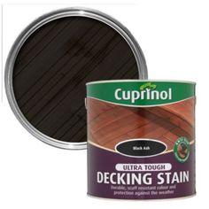 Cuprinol Ultra Tough Black Ash Matt Decking Stain 2.5L: Image 1