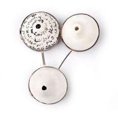 Rinaldo Alvarez-Sterling Silver and Polymer Clay  Shared Secret Brooch Pin