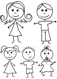 zeichnen lernen – Strichmännchen Clipart Clip Art Stick Menschen Familie von PinkPueblo, 6.00 – vol 5701 | Fashion