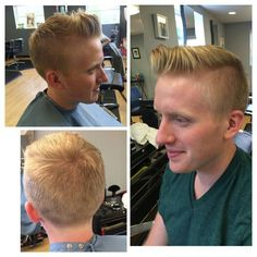 Paola delivered a great gentleman's cut for Seth and styled with Label.M matte paste. Love her mens haircuts! Hair by Paola Lugo. Duncan Edward- Progressive European Hair Design in Madison, WI www.duncanedward. com #duncanedward #menshair