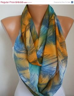 Infinity Scarf Shawl Circle Scarf Loop Scarf  Gift by fatwoman,