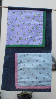 Porta Trecos - feito com retalho de jeans reciclado