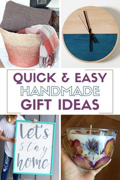Quick and easy handmade gift ideas are fun to make and special gifts to give for Christmas Birthdays or any reason! Quick and easy handmade gift ideas are fun to make and special gifts to give for Christmas Birthdays or any reason! Diy Gifts Cheap, Easy Handmade Gifts, Diy Crafts For Gifts, Easy Crafts, Handmade Ideas, Fun Gifts, Creative Crafts, Craft Projects For Adults, Crafts For Teens To Make