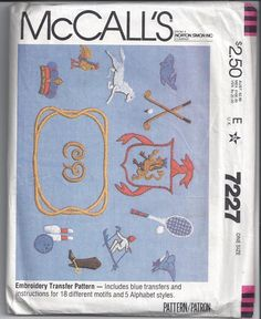 McCall's 7227 Pattern for Embroidery by VictorianWardrobe on Etsy, $5.00