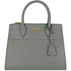 Prada Handle Bag - Saffiano City Tote Mercurio - in grey - Handle Bag... (€1.525) ❤ liked on Polyvore featuring bags, handbags, tote bags, grey, handbags totes, prada tote bag, leather key ring, prada handbags and leather handbags