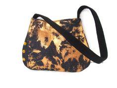 Orange Crush Small denim Shoulder purse Vegan by gypsygirlfashions, $19.00