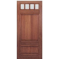 MAI Doors Front Doors On Sale Mahogany Square Top with Panel Bottom Exterior Door Craftsman Exterior Door, Craftsman Style Doors, Exterior Front Doors, Front Entry, Front Porch, Wood Screen Door, Wood Entry Doors, Screen Doors, Entrance Doors