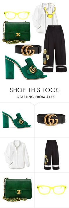 """""""Untitled #895"""" by tammydevoll ❤ liked on Polyvore featuring Gucci, Lacoste, Dolce&Gabbana, Chanel and Kim Rogers"""