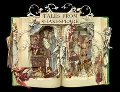 Tales From Shakespeare - Book Sculpture - Altered Book - Shadowbox FRAMED.  via Etsy.