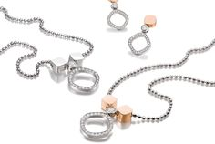 Chris Sommer - Charleston I Necklaces and earrings made of 18 kt. red- and/or whitegold with diamonds.