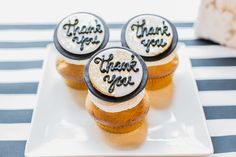 """Thank you"" cupcake wedding favors 