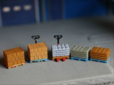 N Scale (1:160) Pallets with Boxes and Bags 3D printed by Ngineer