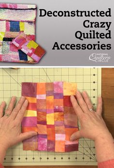 Come along with quilt artist Heather Thomas to learn all about this fun technique of creating quilted surfaces to make art quilts, computer carriers, purses and even garments. This is a wonderful way to explore color and texture as well as a great opportunity to use all of the decorative stitches you have on your machine. With just a little bit of iron-on adhesive (and no piecing) your efforts will yield a delightfully unique quilted surface to use as is or to create other items with. This…