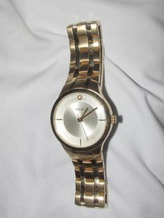 Mens Gold Tone all Stainless Steel RELIC ZR77105 Dress Watch 30 Meters #Relic #Dress