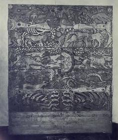 Н.К.Рерих. Шкаф трехстворчатый для библиотеки (Мебель по эскизам Н.К.Рериха для мастерских Талашкино). 1904