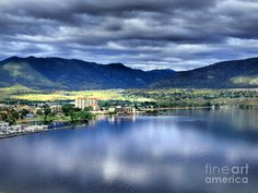 Morning light on Okanagan Lake, Penticton BC Canada  One of the  - their extraordinary wine enhances the views!