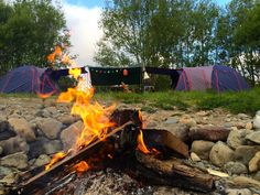 Riverside Camping in Kaitoke Regional Park, New Zealand