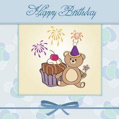 karikatür doğum günü kartları 03 vektör