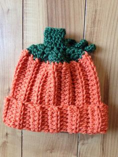 Pumpkin Baby Beanie  Made to Order by LoveMadeByLove on Etsy
