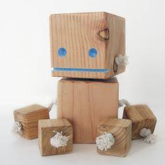 Designer holzmobel skulptur  Grafik Designer Camo Block Bot - Limited Edition-Bildschirm ...