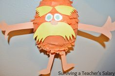Dr Seuss Lorax Pinata - Have to make this for Suess read in
