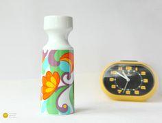 70s Panton Flower Vase Porcelain Mid Century Op Pop Art Ceramic Floral Design Space Age Orange Germany mcm - 60s