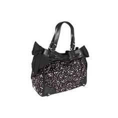 Juicy Couture Daydreamer Studded Velour Shoulder Handbags - Black