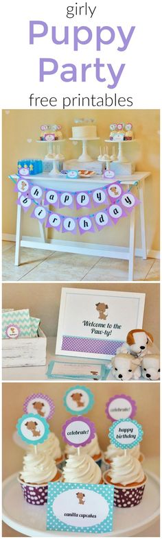 Girly Puppy Birthday Party Free Printables