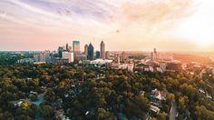 Midtown Atlanta Georgia above the Ansley Park neighborhood [10743x6043]