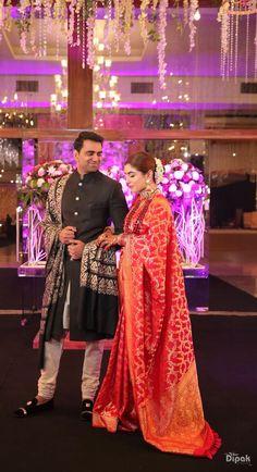 Beautiful Delhi Wedding With A Bride In Offbeat Outfits Couple Wedding Dress, Wedding Dresses Men Indian, Indian Bridal Sarees, Indian Wedding Photos, Indian Wedding Planning, Indian Gowns Dresses, Indian Bridal Outfits, Indian Bridal Fashion, Bengali Wedding