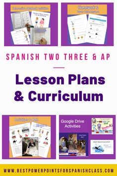 Spanish Two, Three, And AP Lesson Plans and Curriculum for an Entire Year has everything you need to teach Spanish Two, Three, and AP. These AP Lessons are based on TRIÁNGULO APROBADO TEST-PREP BOOKLET. Save a bundle by buying them all together. No prep! No book needed for Spanish Two and Three. Includes Power Points, INB Activities, Homework, Lesson Plans, Audio Practice, TPR Stories, Comprehensible Input, Quizzes and Tests, Games, and much more. Comprehensible Input, Spanish Lesson Plans, Ap Spanish, Test Prep, Teaching Spanish, Spanish Language, Quizzes, Booklet, Curriculum