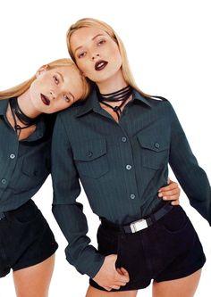 Kate Moss & Kate Moss. Photo: Jean Baptiste Mondino.