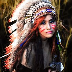 American Indian Girl, Native American Girls, Native American Warrior, Native American Pictures, Native American Beauty, Indian Girls, American Indians, Indian Face Paints, Native American Face Paint