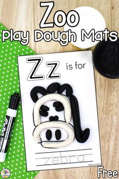 These Zoo Play Dough & Letter Mats can be used as a fun sensory activity for preschoolers to practice letter recognition and develop their fine motor skills.