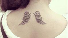 Ideas For Tattoo Small Angel Tatoo Trendy Tattoos, Cute Tattoos, Body Art Tattoos, New Tattoos, Small Tattoos, Tattoos For Women, Wing Tattoos On Wrist, Feather Tattoos, Tribal Tattoos