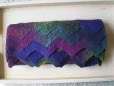 Ten Stitch ZigZag, Not just the pattern but the yarn choice with this pattern works so well.