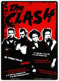 New Jersey Calling: The Clash rock the Garden State on the Tons Tour,' 1980 No Wave, Tour Posters, Band Posters, The Clash, Rock And Roll, Concert Rock, Heavy Metal, Dark Wave, Rock The Casbah