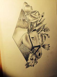 Horse tattoo draw LPDO