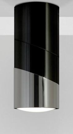 Hotte ilot central tube noir - hotte cylindre puissante, silencieuse et design à découvrir sur http://inspiration-interieur.e-monsite.com/decoration/electromenager/hotte/centrale-ilot-suspendue/mo-406-l-autre-hotte-tube-noir-inox.html