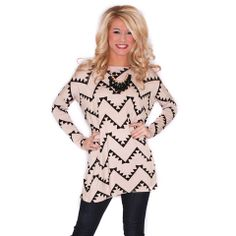 WEST COAST DREAMING TUNIC TAUPE/BLACK  IMPRESSIONS  $38.00